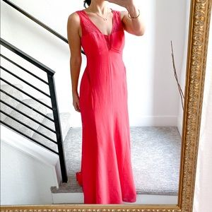 BCBG Ariel Gown Maxi Dress in Coral Pink Size 4
